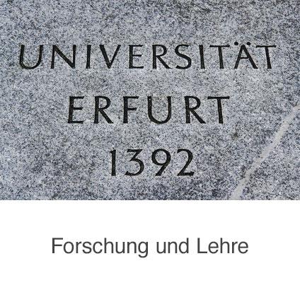 universität Erfurt in Stein gemeißelt